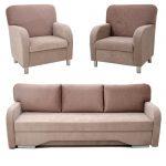 Komplektas Luknė (Sofa + 2 foteliai)